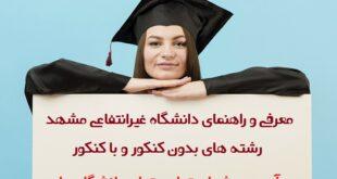 دانشگاه غیرانتفاعی مشهد - معرفی و راهنمای دانشگاه غیرانتفاعی مشهد